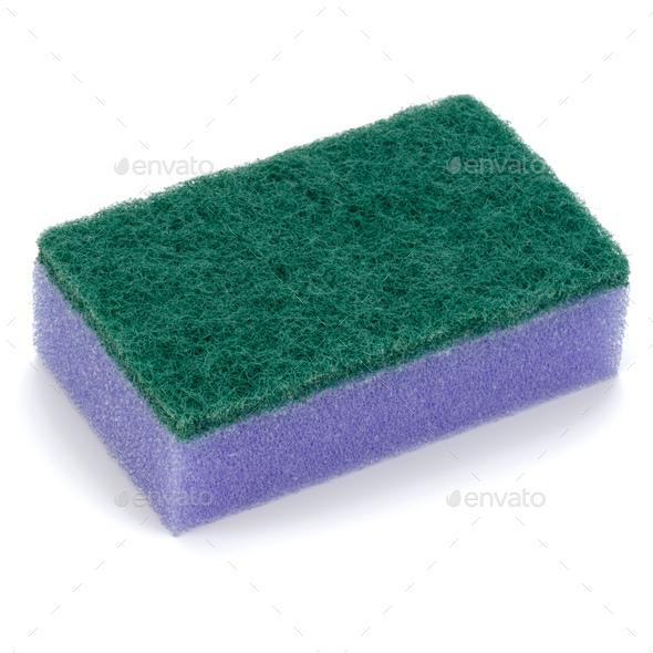 sponge isolated on white background cutout - Stock Photo - Images