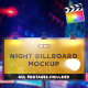 Night Billboard Mockup | For Final Cut & Apple Motion - VideoHive Item for Sale
