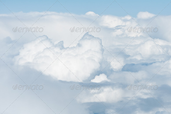 heavy clouds from above - Stock Photo - Images