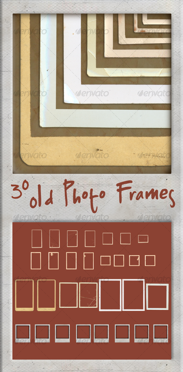 30 Old Photo Frames - Miscellaneous Photo Templates