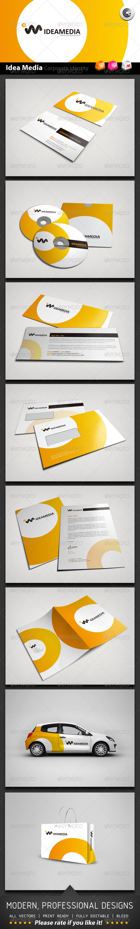 Idea Media Corporate Identity - Stationery Print Templates
