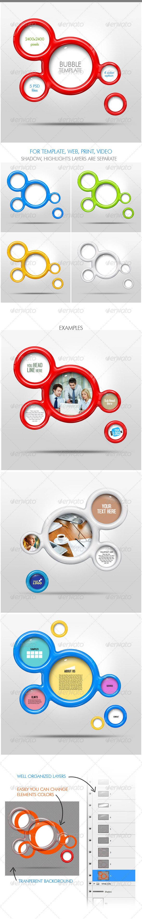 Bubble Template - Miscellaneous Photo Templates