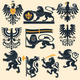 Heraldic lions and eagles set - GraphicRiver Item for Sale