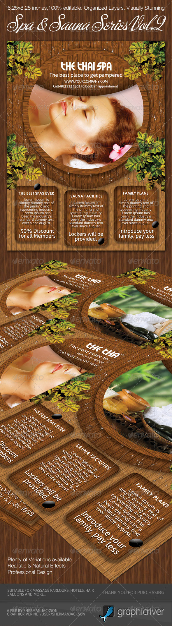 Spa & Sauna Flyers PSD Template - Vol.2 - Commerce Flyers