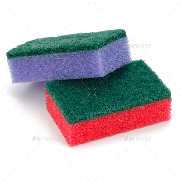 sponges isolated on white background cutout - Stock Photo - Images
