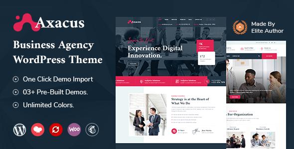 Axacus – Business Agency WordPress Theme