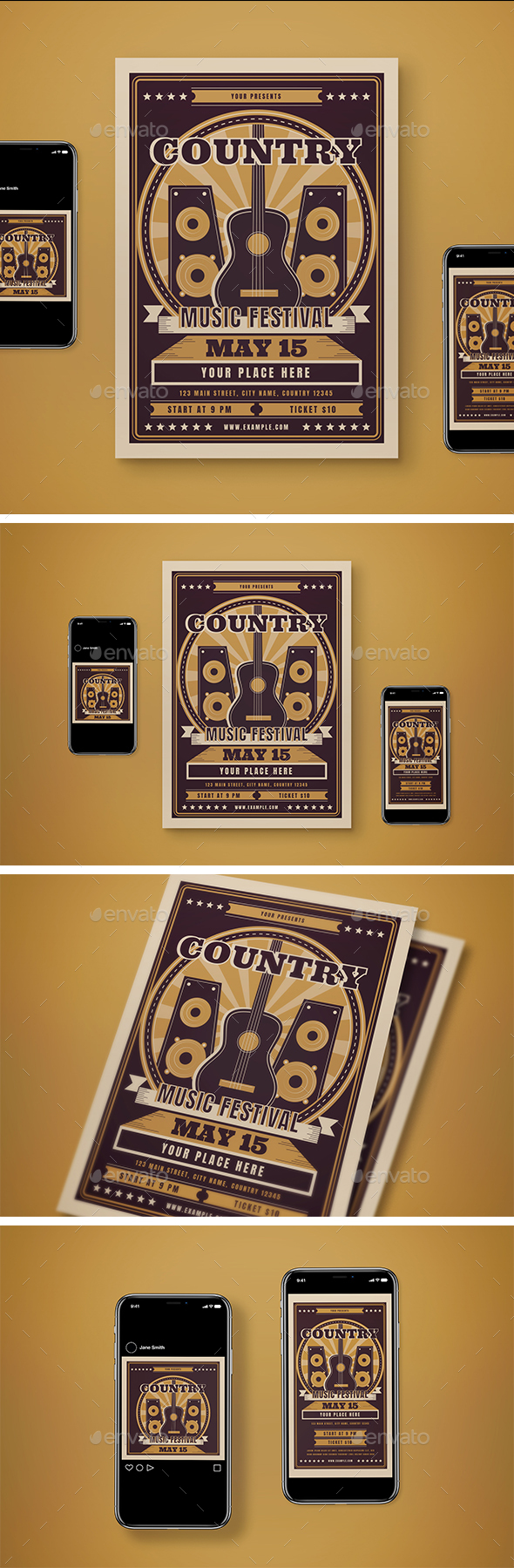 Country Music Flyer Pack