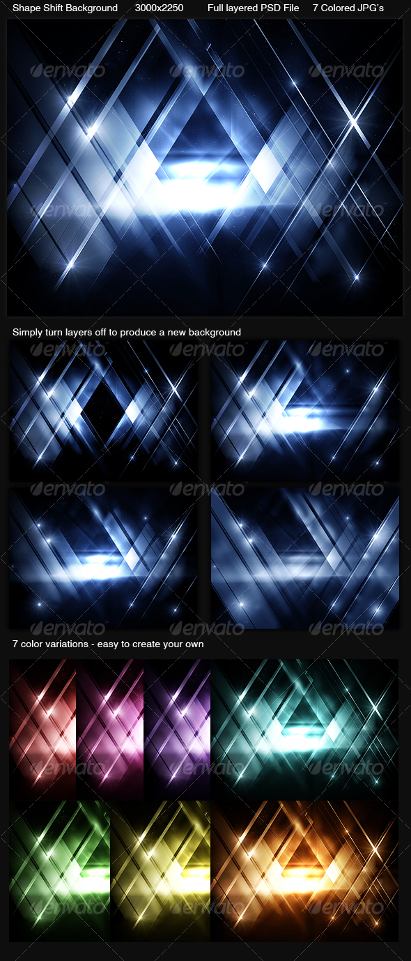 Shape Shift Background - Backgrounds Graphics