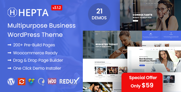 Hepta - Multipurpose Business WordPress Theme