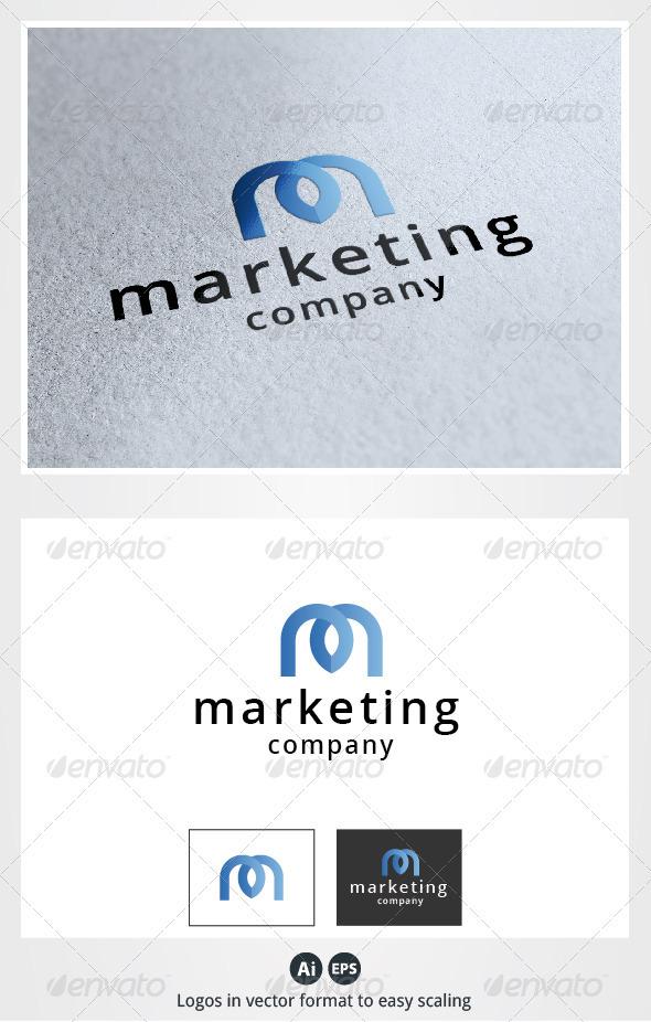 Marketing M Letter Logo - Letters Logo Templates