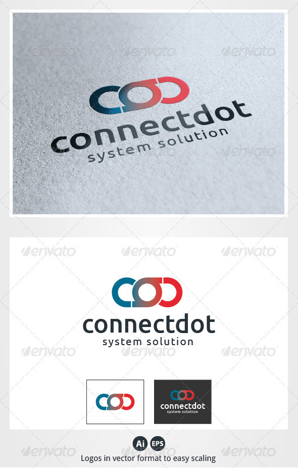 Connect Dot Logo - Symbols Logo Templates