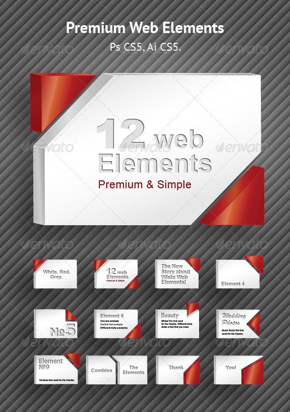 Premium Web Elements Set - Miscellaneous Social Media