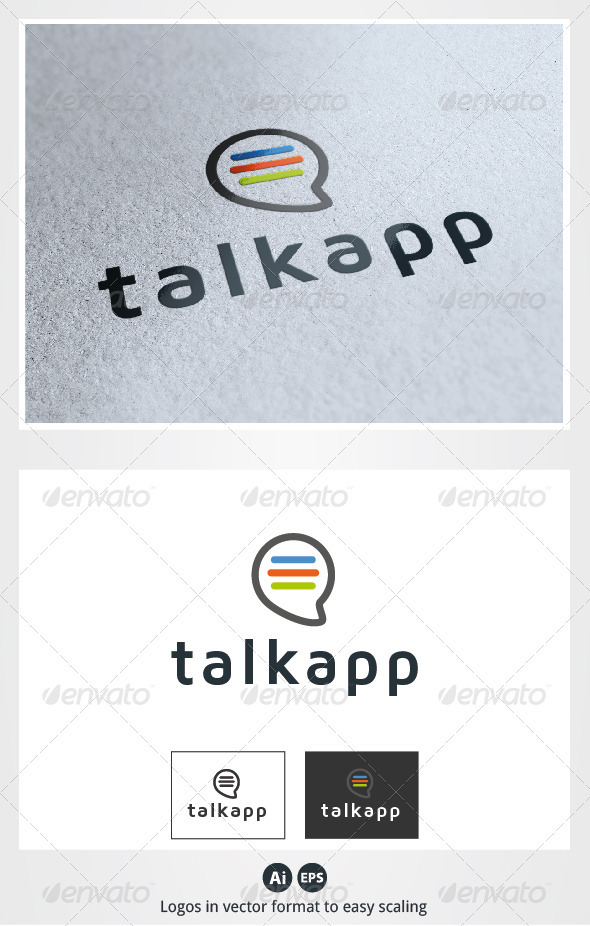 Talk App Logo - Symbols Logo Templates