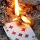 Card Is Burned In The Fire - VideoHive Item for Sale