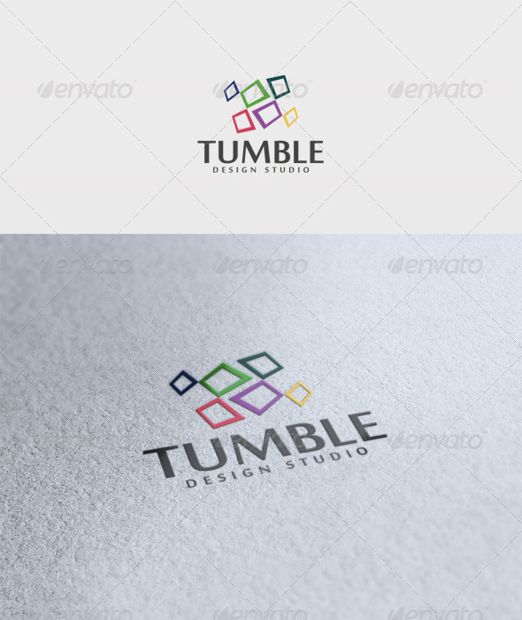 Tumble Logo - Vector Abstract