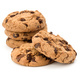 Stacked Chocolate chip cookies isolated on white background. Sweet biscuits. Homemade pastry. - PhotoDune Item for Sale