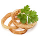 Delicious crispy fried onion rings isolated on white - PhotoDune Item for Sale