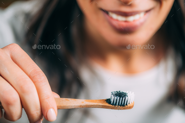 Whitening Teeth at Home. - Stock Photo - Images