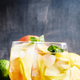 White Spanish sangria, gray background, selective focus - PhotoDune Item for Sale
