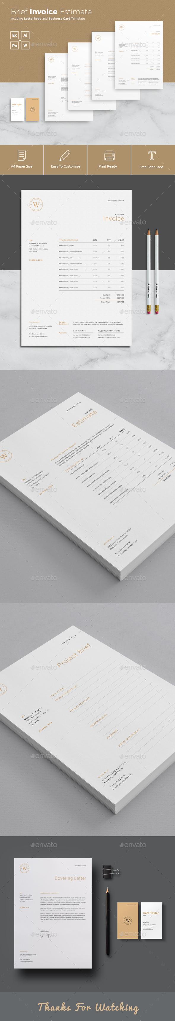 Invoice Estimation Brief