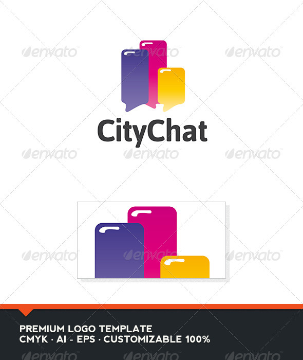 City Chat Logo Template - Abstract Logo Templates