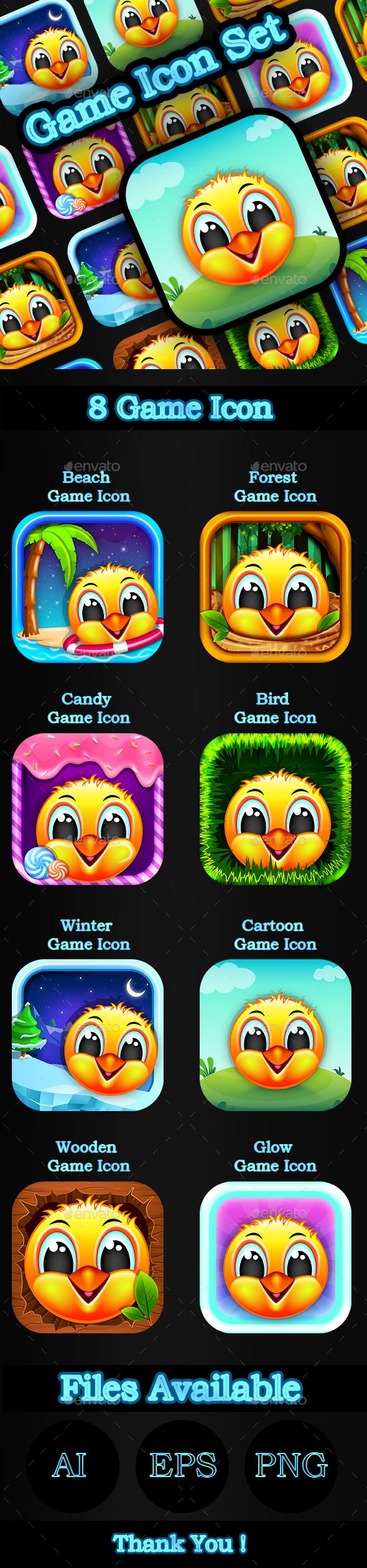 Cartton_Game_Icon_Set