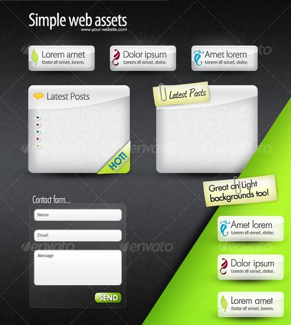 Web Elements -  Web Boxes & Web Buttons  - Miscellaneous Web Elements