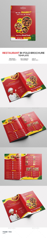 Restaurant Menu Bi-Fold Brochure
