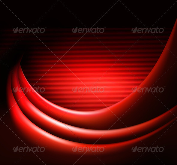 Red elegant abstract background  Vector illustrati - Backgrounds Decorative