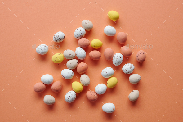 Painted quail eggs - Stock Photo - Images