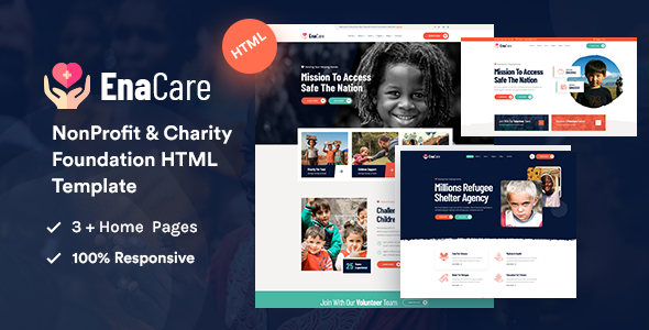 EnaCare – NonProfit & Charity Foundation HTML5 Template
