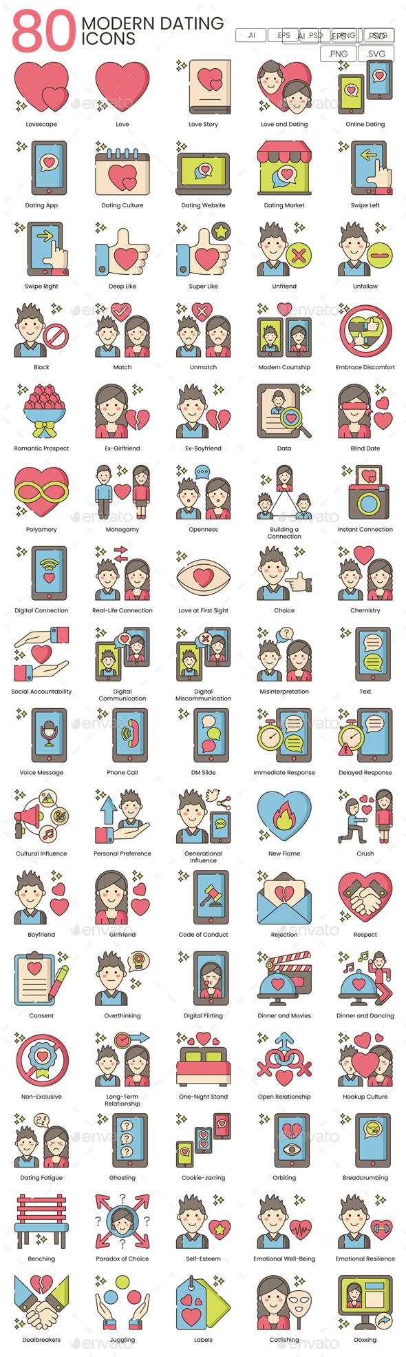 80 Modern Dating Icons   Hazel Series