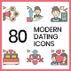 80 Modern Dating Icons | Hazel Series