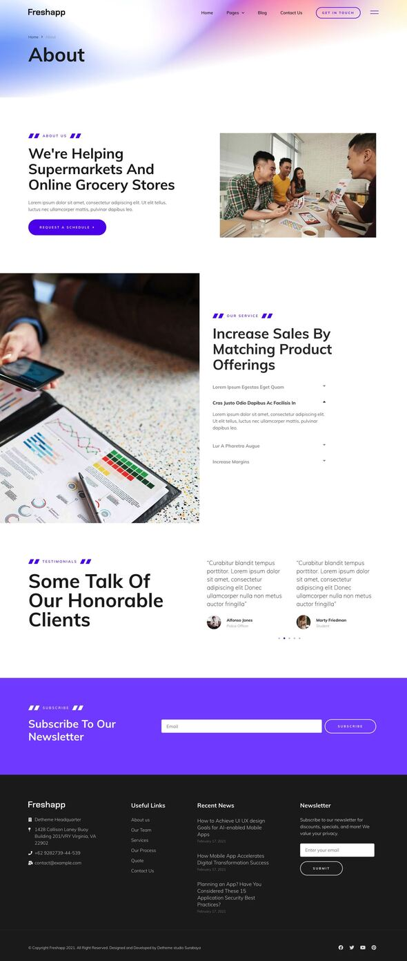 FreshApp - Startup & Showcase Elementor Template Kit