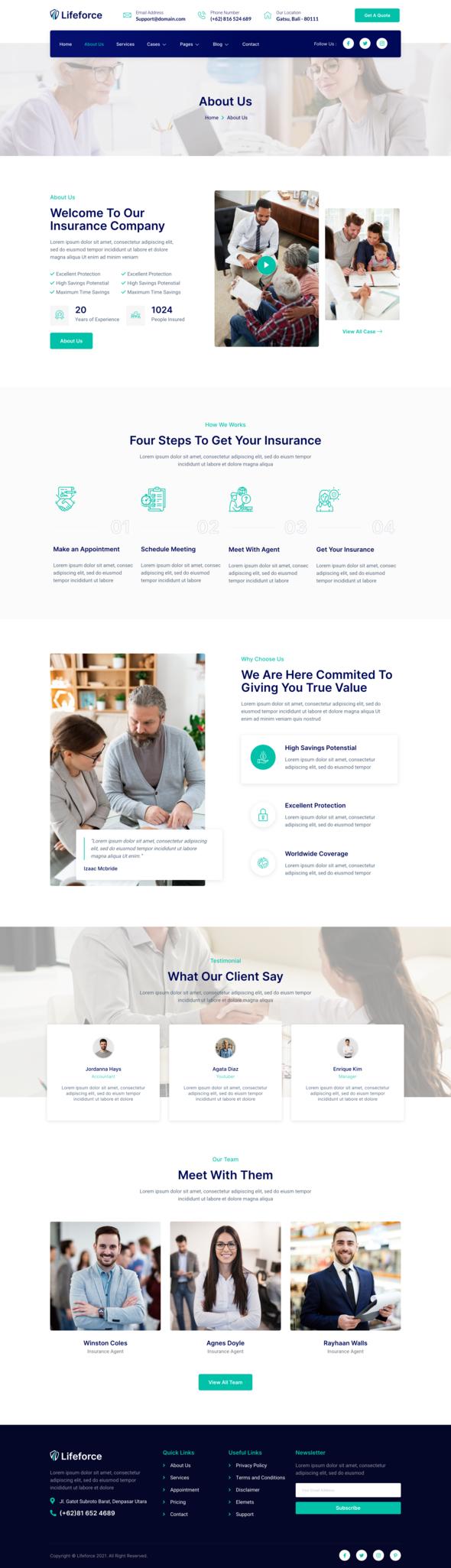 Lifeforce – Insurance Agency Elementor Template Kit