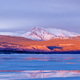 Snowy Mt Laurier frozen Lake Laberge Yukon Canada - PhotoDune Item for Sale