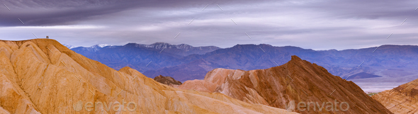 Hiking in Death Valley epic panoramic landscape - Stock Photo - Images
