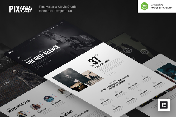 Pixoo – Film Maker & Movie Studio Elementor Template Kit