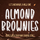 Almond Brownies - Shadow Display Font