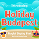 Holiday Budapest - Fun Display Font
