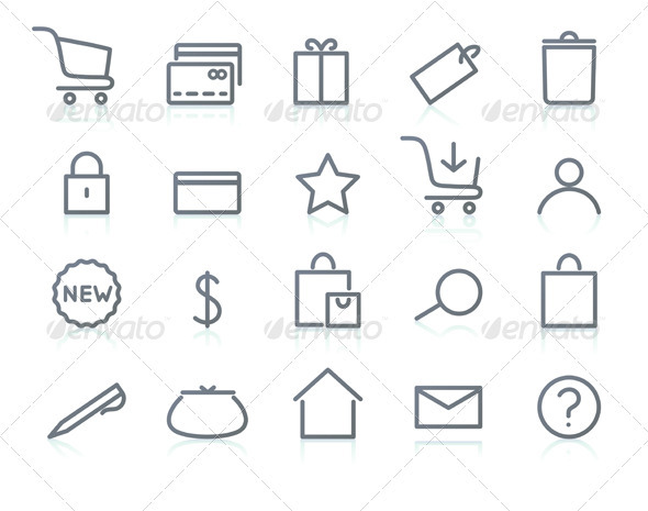 E-commerce Icons - Business Conceptual