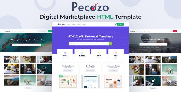 Pecozo – Digital Marketplace HTML Template
