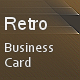 Retro Mosaic Business Card - GraphicRiver Item for Sale