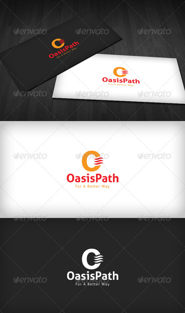 Oasis Path Logo - Letters Logo Templates