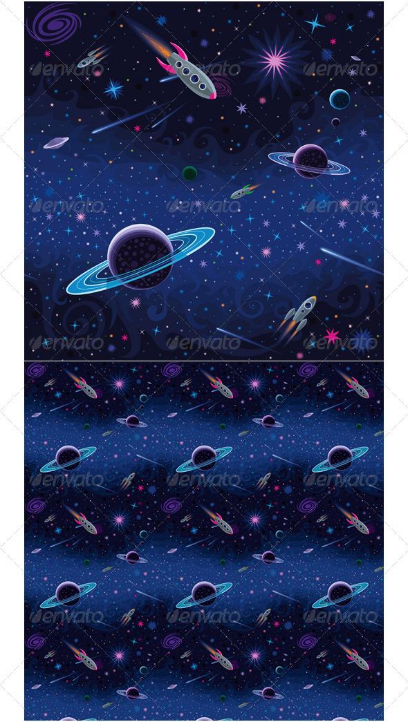 Cosmic Seamless Pattern - Patterns Decorative