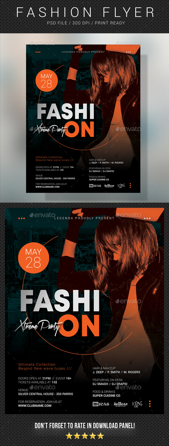 Fashion Extreme Party Flyer 2