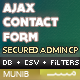 PHP AJAX Contact Form with Admin CSV Exporter & Filters - CodeCanyon Item for Sale