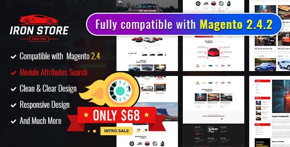 Ironstore - Best Magento 2AutoParts Theme