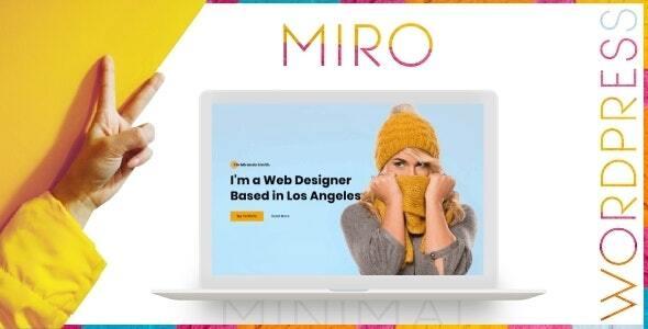 Download Miro – Personal Portfolio WordPress Theme Free Nulled