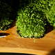 Different microgreens in the trays on wooden table, hard light - PhotoDune Item for Sale